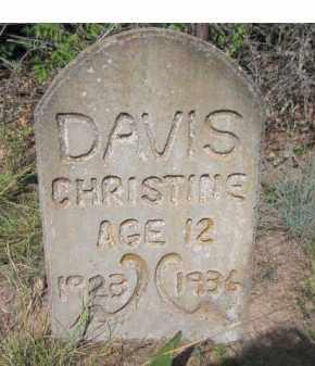 DAVIS, CHRISTINE - Stephens County, Oklahoma | CHRISTINE DAVIS - Oklahoma Gravestone Photos