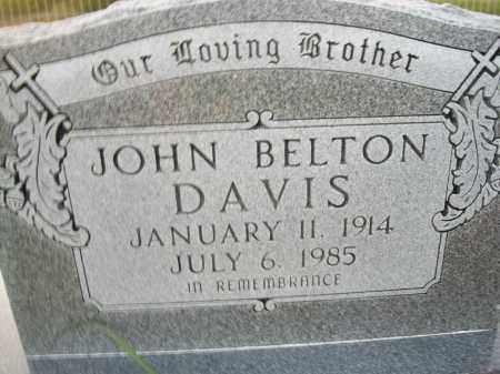 DAVIS, JOHN B. - Stephens County, Oklahoma | JOHN B. DAVIS - Oklahoma Gravestone Photos