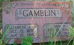 GAMBLIN, ELIZABETH ANN - Stephens County, Oklahoma | ELIZABETH ANN GAMBLIN - Oklahoma Gravestone Photos