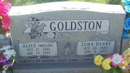 MILLER GOLDSTON, ALICE - Stephens County, Oklahoma | ALICE MILLER GOLDSTON - Oklahoma Gravestone Photos