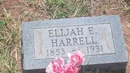 HARRELL, ELIJAH E. - Stephens County, Oklahoma | ELIJAH E. HARRELL - Oklahoma Gravestone Photos