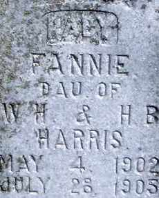 HARRIS, FANNIE - Stephens County, Oklahoma | FANNIE HARRIS - Oklahoma Gravestone Photos