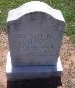 JOHNSON, SARAH M. - Stephens County, Oklahoma | SARAH M. JOHNSON - Oklahoma Gravestone Photos