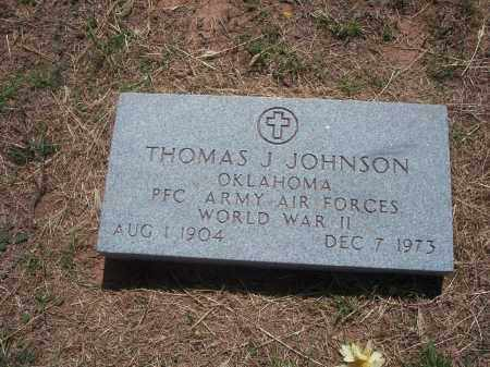 JOHNSON, THOMAS J. - Stephens County, Oklahoma   THOMAS J. JOHNSON - Oklahoma Gravestone Photos