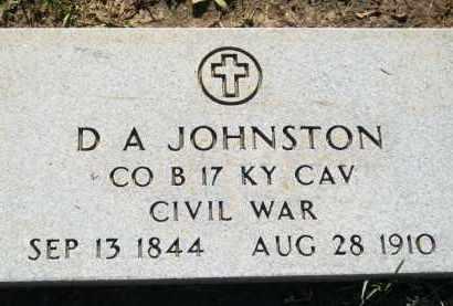 JOHNSTON, D.A.       CIVIL WAR - Stephens County, Oklahoma | D.A.       CIVIL WAR JOHNSTON - Oklahoma Gravestone Photos