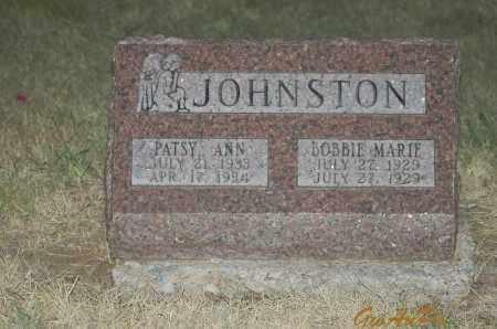 JOHNSTON, PATSY ANN - Stephens County, Oklahoma   PATSY ANN JOHNSTON - Oklahoma Gravestone Photos