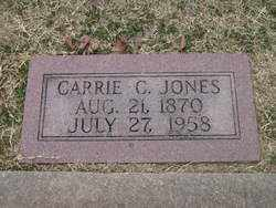 JONES, CARRIE C. - Stephens County, Oklahoma   CARRIE C. JONES - Oklahoma Gravestone Photos