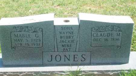 JONES, CLAUDE M. - Stephens County, Oklahoma | CLAUDE M. JONES - Oklahoma Gravestone Photos