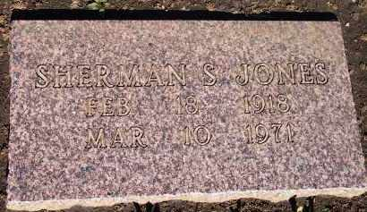 JONES, SHERMAN S. - Stephens County, Oklahoma | SHERMAN S. JONES - Oklahoma Gravestone Photos