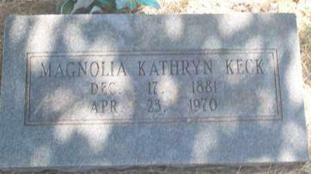 KECK, MAGNOLIA KATHRYN - Stephens County, Oklahoma | MAGNOLIA KATHRYN KECK - Oklahoma Gravestone Photos