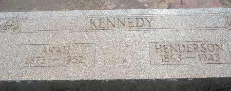 KENNEDY, HENDERSON - Stephens County, Oklahoma | HENDERSON KENNEDY - Oklahoma Gravestone Photos
