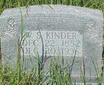 KINDER, W. S.  ( WILLIAM ) - Stephens County, Oklahoma | W. S.  ( WILLIAM ) KINDER - Oklahoma Gravestone Photos