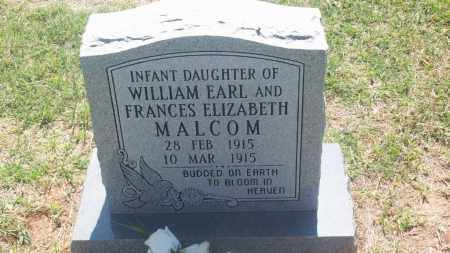 MALCOM, INFANT DAUGHTER - Stephens County, Oklahoma | INFANT DAUGHTER MALCOM - Oklahoma Gravestone Photos