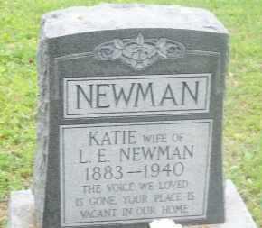 NEWMAN, KATIE - Stephens County, Oklahoma | KATIE NEWMAN - Oklahoma Gravestone Photos