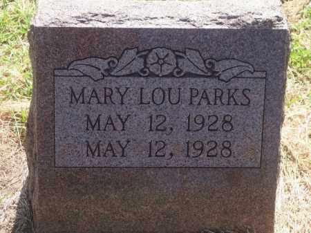 PARKS, MARY LOU - Stephens County, Oklahoma | MARY LOU PARKS - Oklahoma Gravestone Photos