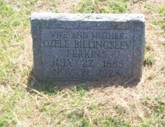 BILLINGSLEY PERKINS, OZELL - Stephens County, Oklahoma | OZELL BILLINGSLEY PERKINS - Oklahoma Gravestone Photos