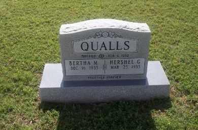 QUALLS, HERSHEL G. - Stephens County, Oklahoma | HERSHEL G. QUALLS - Oklahoma Gravestone Photos
