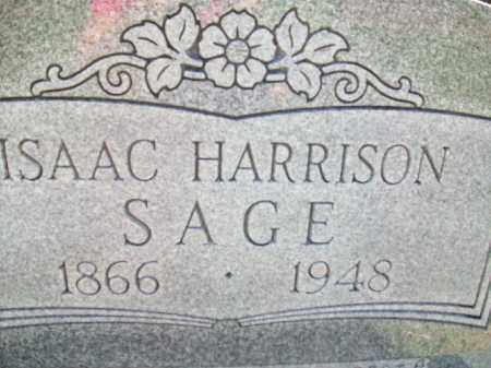 SAGE, ISAAC HARRISON - Stephens County, Oklahoma | ISAAC HARRISON SAGE - Oklahoma Gravestone Photos