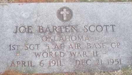 SCOTT, JOE BARTEN - Stephens County, Oklahoma | JOE BARTEN SCOTT - Oklahoma Gravestone Photos
