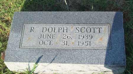 SCOTT, R. DOLPH - Stephens County, Oklahoma | R. DOLPH SCOTT - Oklahoma Gravestone Photos