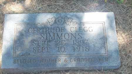 CLEGG SIMMONS, GERTRUDE - Stephens County, Oklahoma | GERTRUDE CLEGG SIMMONS - Oklahoma Gravestone Photos