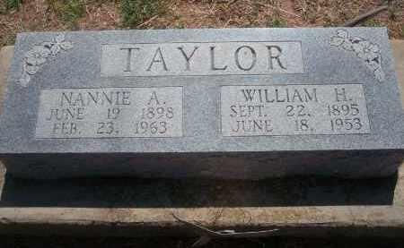 TAYLOR, NANNIE A. - Stephens County, Oklahoma | NANNIE A. TAYLOR - Oklahoma Gravestone Photos
