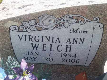 WELCH, VIRGINIA ANN - Stephens County, Oklahoma | VIRGINIA ANN WELCH - Oklahoma Gravestone Photos