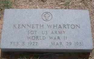 WHARTON (VETERAN WWII), KENNETH - Stephens County, Oklahoma | KENNETH WHARTON (VETERAN WWII) - Oklahoma Gravestone Photos