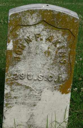AKINS (VETERAN UNION), JOHN F - Tulsa County, Oklahoma   JOHN F AKINS (VETERAN UNION) - Oklahoma Gravestone Photos