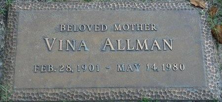 ALLMAN, VINA - Tulsa County, Oklahoma | VINA ALLMAN - Oklahoma Gravestone Photos