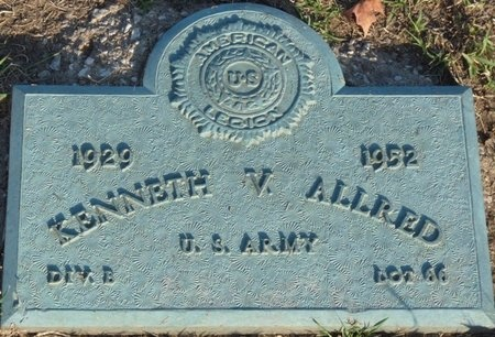 ALLRED (VETERAN), KENNETH V - Tulsa County, Oklahoma | KENNETH V ALLRED (VETERAN) - Oklahoma Gravestone Photos
