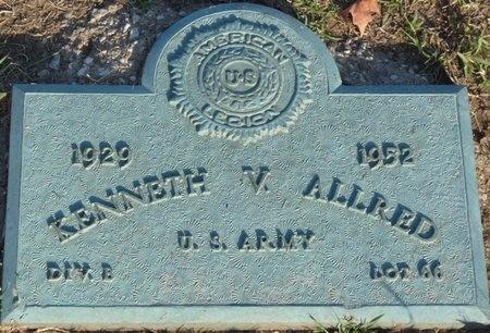 ALLRED (VETERAN), KENNETH V (NEW) - Tulsa County, Oklahoma   KENNETH V (NEW) ALLRED (VETERAN) - Oklahoma Gravestone Photos