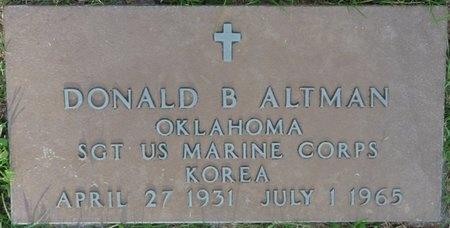 ALTMAN (VETERAN KOR), DONALD B - Tulsa County, Oklahoma   DONALD B ALTMAN (VETERAN KOR) - Oklahoma Gravestone Photos