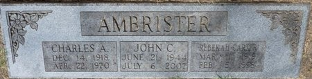 CARTER AMBRISTER, REBEKAH - Tulsa County, Oklahoma | REBEKAH CARTER AMBRISTER - Oklahoma Gravestone Photos