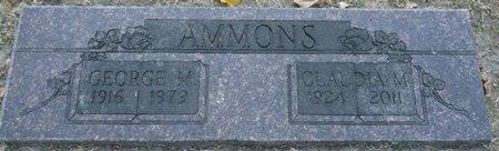 AMMONS, CLAUDIA M - Tulsa County, Oklahoma | CLAUDIA M AMMONS - Oklahoma Gravestone Photos