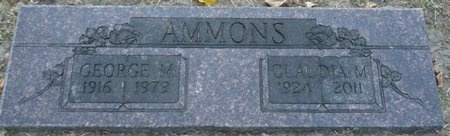 AMMONS, GEORGE MORPHY - Tulsa County, Oklahoma | GEORGE MORPHY AMMONS - Oklahoma Gravestone Photos
