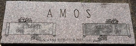 AMOS, J DEWEY - Tulsa County, Oklahoma | J DEWEY AMOS - Oklahoma Gravestone Photos