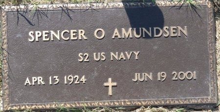 AMUNDSEN (VETERAN), SPENCER O - Tulsa County, Oklahoma | SPENCER O AMUNDSEN (VETERAN) - Oklahoma Gravestone Photos
