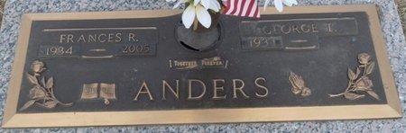 ANDERS, FRANCES R - Tulsa County, Oklahoma | FRANCES R ANDERS - Oklahoma Gravestone Photos
