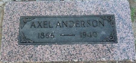 ANDERSON, AXEL - Tulsa County, Oklahoma | AXEL ANDERSON - Oklahoma Gravestone Photos