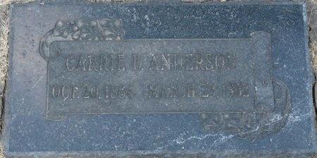 ANDERSON, CARRIE B - Tulsa County, Oklahoma | CARRIE B ANDERSON - Oklahoma Gravestone Photos