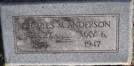 ANDERSON, CHARLES M - Tulsa County, Oklahoma | CHARLES M ANDERSON - Oklahoma Gravestone Photos