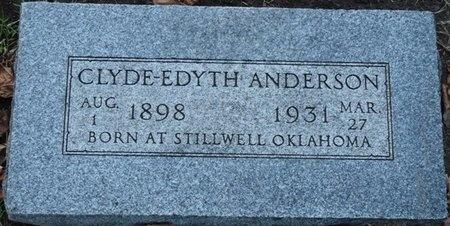 ANDERSON, CLYDE-EDYTH - Tulsa County, Oklahoma   CLYDE-EDYTH ANDERSON - Oklahoma Gravestone Photos