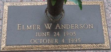 ANDERSON, ELMER WARD - Tulsa County, Oklahoma | ELMER WARD ANDERSON - Oklahoma Gravestone Photos