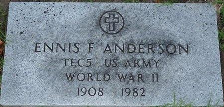 ANDERSON (VETERAN WWII), ENNIS F (NEW) - Tulsa County, Oklahoma | ENNIS F (NEW) ANDERSON (VETERAN WWII) - Oklahoma Gravestone Photos