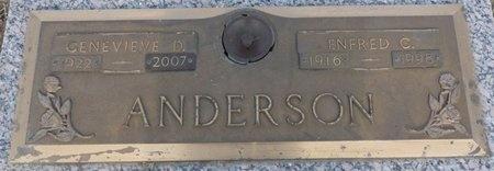 ANDERSON, GENEVIEVE D - Tulsa County, Oklahoma | GENEVIEVE D ANDERSON - Oklahoma Gravestone Photos