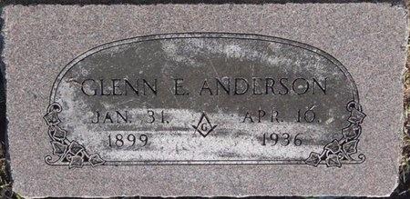 ANDERSON, GLENN E - Tulsa County, Oklahoma   GLENN E ANDERSON - Oklahoma Gravestone Photos
