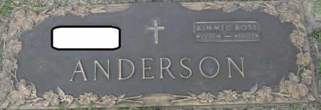 ANDERSON, KIMMEL ROSS - Tulsa County, Oklahoma | KIMMEL ROSS ANDERSON - Oklahoma Gravestone Photos