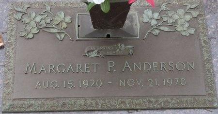 ANDERSON, MARGARET P - Tulsa County, Oklahoma   MARGARET P ANDERSON - Oklahoma Gravestone Photos