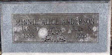 ANDERSON, MINNIE ALICE - Tulsa County, Oklahoma | MINNIE ALICE ANDERSON - Oklahoma Gravestone Photos